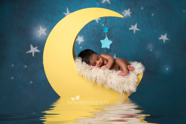 San jose newborn photographer moon baby